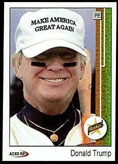Donald Trump Baseball Card Make America Great Again 1989 Upper Deck Ken Griffey JR Rookie Card!