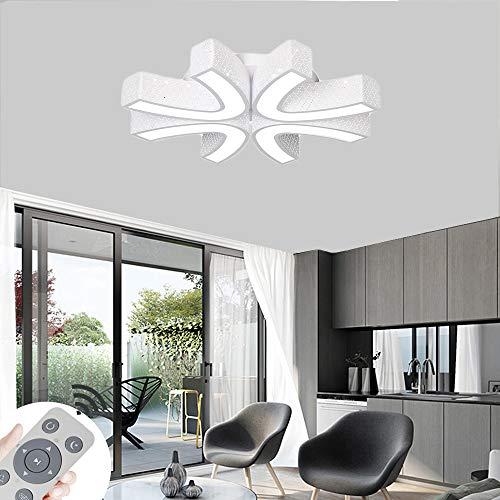 BRIFO 54W LED Deckenleuchte Dimmbar, Deckenlampe für Flur,Wohnzimmer, Küche,Büro, Energie Sparen Licht, Modern Lampe Design, Dimmbar (3000-6500K) Mit Fernbedienung (Weiß 54W Dimmbar)