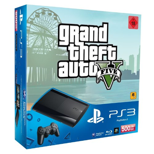 Sony Playstation 3 500GB + Grand Theft Auto 5 - juegos de PC (PlayStation 3, 256 MB, XDR, Blu-Ray, 500 GB, 10, 100, 1000 Mbit/s) Negro