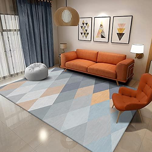 Alfombra de estilo nórdico para sala de estar, dormitorio, abstracción, luz de lujo, antideslizante, lavable, alfombra de baño, cocina, alfombra pequeña, 80 x 120 cm