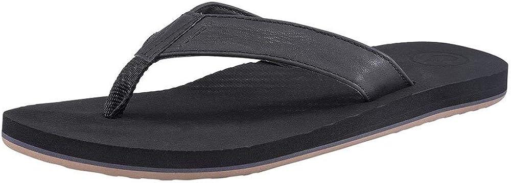 Volcom Men's Fathom Synthetic Leather Sandal