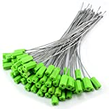 ZWY Green Pull-Tite Steel Security Cable Wire Seals 15.75'' Long Numbered...