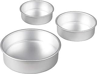 YMOND Round Cake Pans, Deep Cheesecake pan, Aluminum Baking Pans, Non Stick cake pan set of 4/6 /8 inch, Leakproof Bakewar...