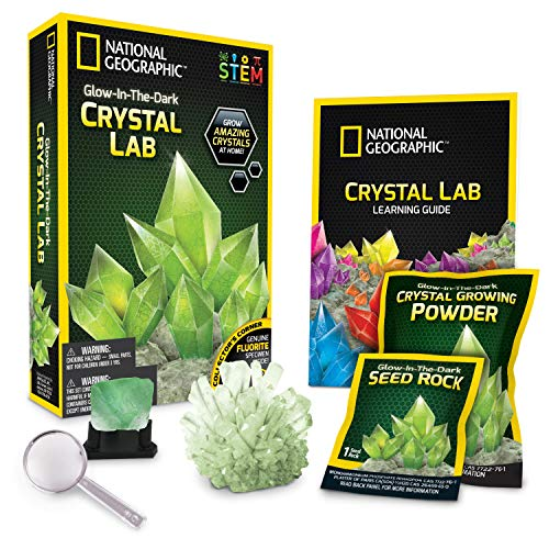 National Geographic JM00600 NG Green Glow in The Dark Crystal Growing Lab