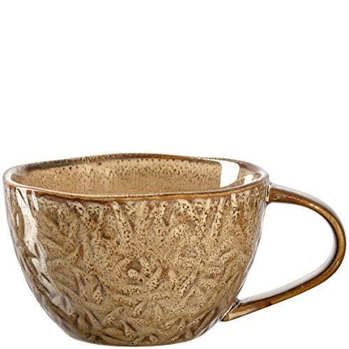 Leonardo Matera Kaffee-Tasse, 1 Stück, spülmaschinengeeignete Keramik-Tasse, 1 mikrowellenfester Becher, Tasse aus Steingut, beige, 290 ml, 018587