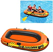 Intex Explorer Pro Inflatable Boat, Boat Only, Two Person (196 x 102 x 33 cm)
