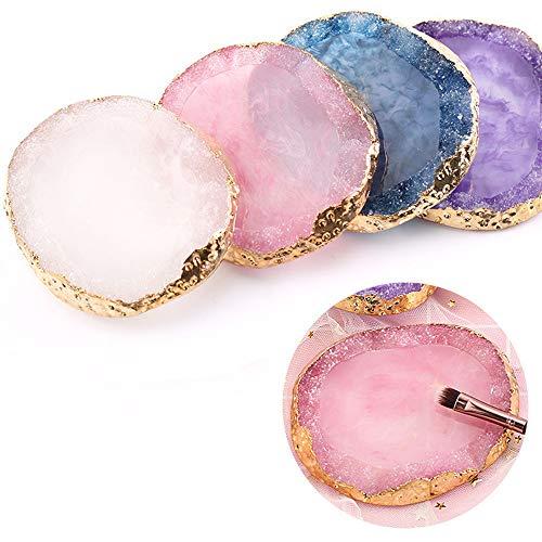 Résine Nail Art Peinture Gel Palette Doré Edge Vernis Agate Mélange de verser plaque de Gem Cristal Manucure accessoire de Nouvel Outil DIY