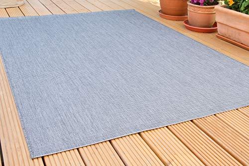 In- und Outdoor Teppich Halland Sisal Optik, Webteppich, in Grau, GUT Siegel Zertifiziert, Größe: 135x190 cm