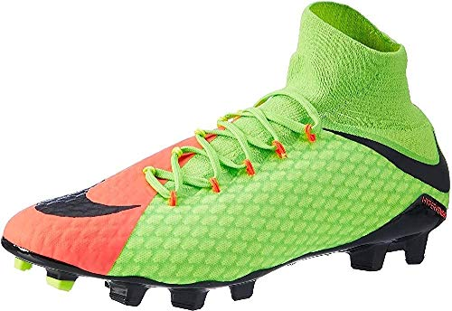 Nike Hypervenom Phatal 3 Df Fg, Scarpe da Calcio Uomo, Verde (Electric Green/black-hyper Orange-volt), 43 EU