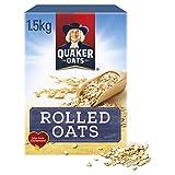 Quaker Porridge Rolled Oats 1,5 kg   Copos de Avena 100% integral 1,5 kg (El embalaje puede variar)