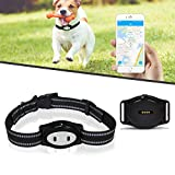 RiamxwR Pet Dog GPS Tracker Collar Smart Pet Tracker Real-Time Tracking Device Location Pet Tracking Device Pet Finder Locator GPS Dog Tracker IP67 Waterproof Pet Dog Collar - App Control