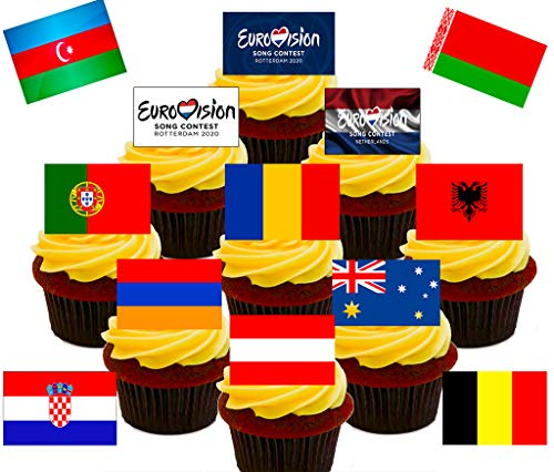 20 cupcake flags//toppers-in the night garden enfants fête d/'anniversaire
