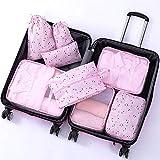 MMHJS 8Pcs Packing Cubes Value Set Für Reisegepäck Organizer Bag Compression Pouches Kleidung Koffer