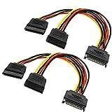SATA3.0 6Gbps対応 両側ラッチ付 下L型 シリアルATAケーブル 50cm Cloud Eleven® (2本セット, ブルー)