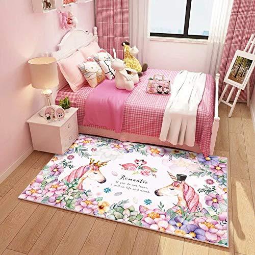 QFLY Kindervloerkleed met comic-motief, prinses, kleuterschool, leerkleding, babytapijt, kruipkleed, slaapkamer, woonkamer, tafelkleed, 7 maten 180*260cm