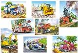 alles-meine.de GmbH 7 Stück: Mini Puzzle / Minipuzzle - jeweils 24 Teile - Fahrzeuge / Auto - für...