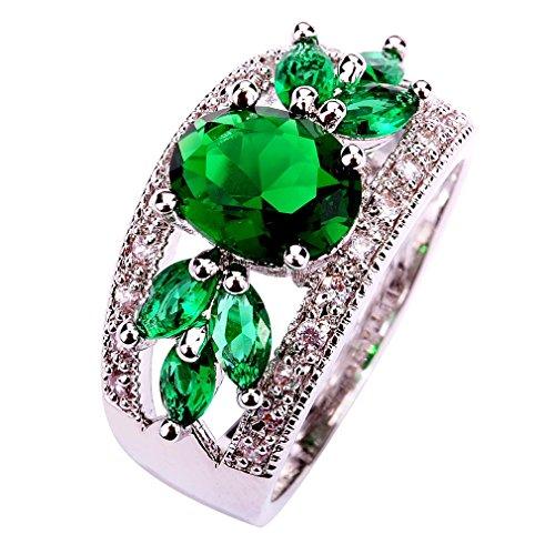 Honghu Vendimia Simulado Diamante Amatista Esmeralda