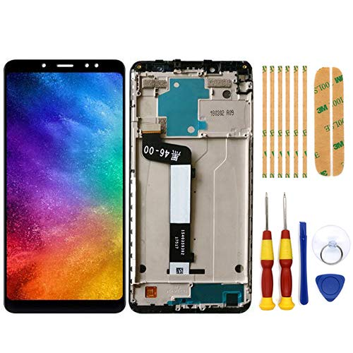 AiBaoQi For 5.99'' Xiaomi Redmi Note 5 Pro LCD&Touch Screen Digitizer with Frame Assembly LCD Screen Display replacment Tools (Black with Frame)