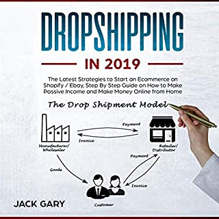 Dropshipping in 2019: The Latest Strategies to Start an Ecommerce on Shopify / Ebay, Step by Step Guide on How to Make Passive Income and Make Money Online from Home audiobook cover art