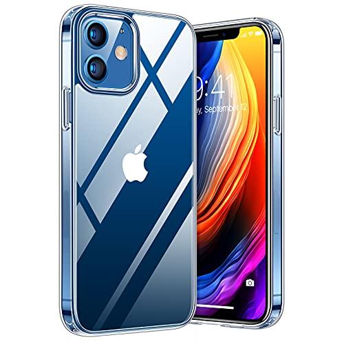 TORRAS Diamond Series für iPhone 12 Mini Hülle Extrem Durchsichtig (Vergilbungsfrei) Starke Stoßfestigkeit Schutzhülle Hard PC Back und Soft Silikon Bumper Handyhülle iPhone 12 Mini - Transparent