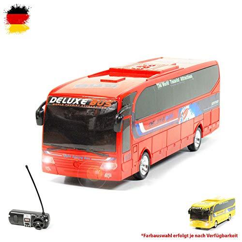 Himoto HSP RC Ferngesteuerter Reisebus inkl. Fernsteuerung und integriertem Akku, Bus, Truck-Modell, LKW, Auto, Car, Fahrzeug in Allen Richtungen steuerbar, Maßstab 1:26