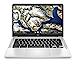 HP Chromebook 14-inch HD Laptop, Intel Celeron N4000, 4 GB RAM, 32 GB eMMC, Chrome (14a-na0010nr, Mineral Silver) (Renewed)