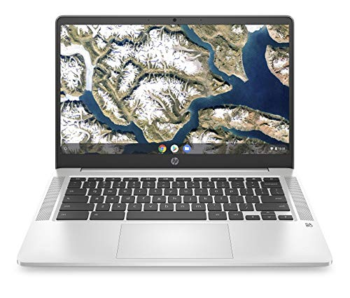 HP Chromebook 14-inch HD Laptop, Intel Celeron N4000, 4 GB...