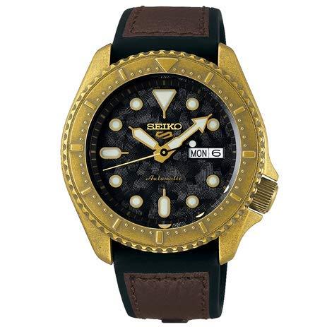 Seiko SRPE80K1 - Reloj deportivo para hombre, color dorado rústico