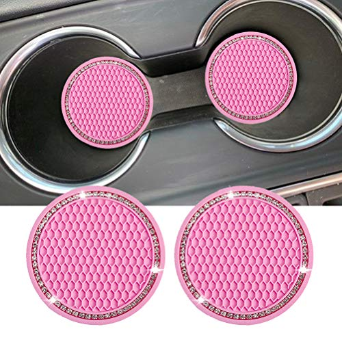 Dalimo Car Coasters for Drinks Absorbent, Cute Car Coasters for Women, Cup Holder Coasters for Your Car with Fingertip Grip, Auto Accessories for Men Women Lady, Pack of 2