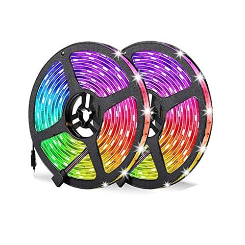 GHC LED Lámparas Adaptador de Corriente DC 12V RGB de 5m 10m RGB Conjunto de Adaptador de Corriente DC 12V LED 5050 SMD DIODE DIODE LED Cinta de Cinta Impermeable Bluetooth Control de 24 Teclas