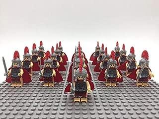 FidgetKute 21 Pieces Building Blocks Knights Rome Gladiator Soldier Minifigures Spartan Set 643 NO BASEPLATE