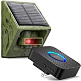 easyreen Solar Driveway Alarm Wireless Outside Weatherproof 58 Chimes 650ft Long Range, Outdoor PIR Motion Sensor & Detector- Expandable Motion Alert System for Monitor & Protect Property