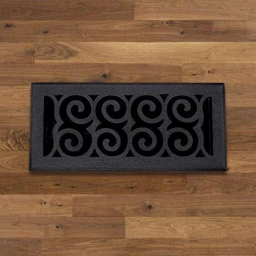 Magnus Home Products Spiral Cast Iron Floor Register, 4' x 10', 5.0 lb