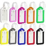 Etiquetas de equipaje, 10 piezas de plástico para bolso de mano, etiquetas de equipaje de viaje, etiquetas de identificación de maleta, etiquetas