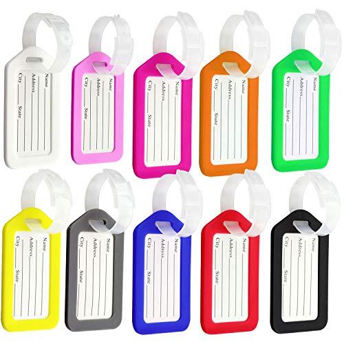 Etiquetas de equipaje, 10 piezas de plástico para bolso de mano, etiquetas...