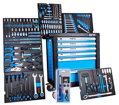 XXL Edition   Werkzeugwagen - Werkstattwagen - 6 Schubladen gefüllt mit Werkzeug   Bit Sets, Ratschen, Nüsse und vieles mehr...