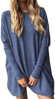 Jojckmen Women Tight Long Sleeve T-Shirt Solid O Neck Loose Top Spring Autumn Blouse