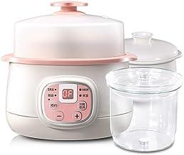 Elektrische spaarkoker, 0,8 liter, keramische liner, klein professioneel keukengerei met 24-uurs timer en 4 gaarstanden vo...