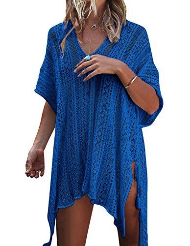 JOSIFER Women Summer Swimsuit Bikini Beach Swimwear Crochet Cover up