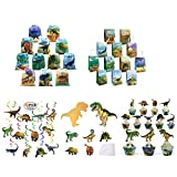 Dinosaur Party Supplies Favors Bags for Kids Boys and Girls Birthday Birthday-Decorations Swirl Dinosaur Paper Bags with Handles Cupcake Toppers and Wrappers Dinosaur-Party-Supplies-Invitations