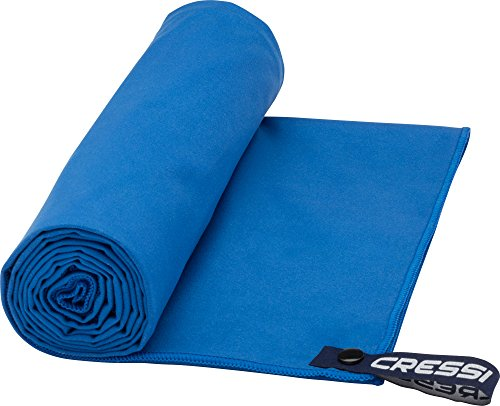 Cressi Fast Drying Towel, Asciugamano Sportivo in Microfibra Unisex Adulto, Blu, 60 x 120 cm