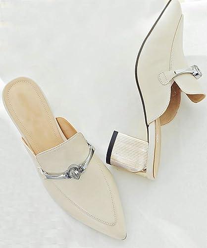 Yundong des Chaussures Pointues, la moitié des Pantoufles, MesLes dames Stiletto Semi - Sandales