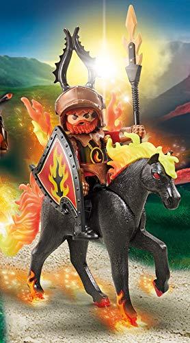 PLAYMOBIL Novelmore Caballo de Fuego con Jinete 9882