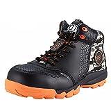 DDTX Botas de Seguridad Hombre (Puntera Compuesta, Entresuela de Kevlar, Antiestáticos, S1P) Zapatos de Seguridad Trabajo Cómodas Transpirables Negro Talla 41