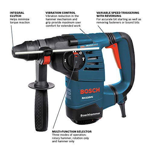 Bosch 1-1/8-Inch SDS Rotary Hammer RH328VC with Vibration Control Michigan