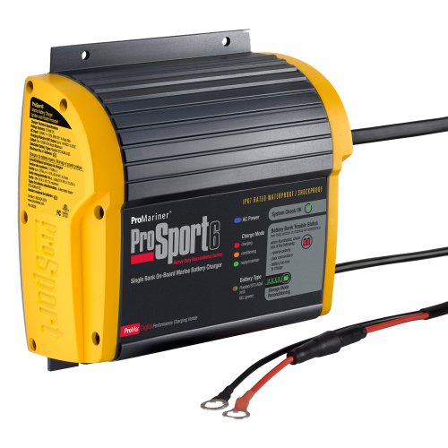 ProMariner 43006 Marine Battery Charger ProSport On-Board 6 Amp 1 Bank Electronics Accessories