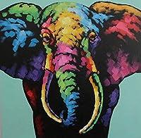 NYIXIA 数字油絵 フレーム付き 、数字キット塗り絵 手塗り DIY絵、象、初心者 子供と大人のためのキャンバス油絵キット、数字キットによるペイント - 40*50cm