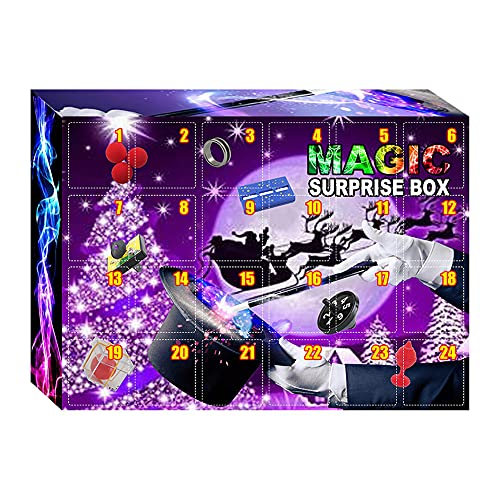Fidget Calendario Adviento 2021, Trucos Magia infantil 24 piezas, Calendarios de cuenta regresiva Regalos, Juego de Accesorios mgicos para nios adultos