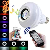 LHQ-HQ Bombilla altavoz Bluetooth RGB 12W E27 LED de potencia musical inalámbrico luz que juega Wi-Fi lámpara de las bombillas