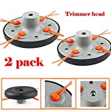 ELECTROPRIME 2pcs Trimmer Head Universal Gas Cutting Replacement Lawn Mower Outdoor